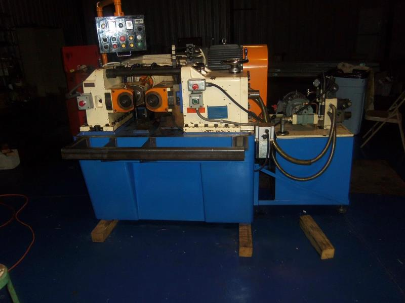 Stock no: 7270 - TWO DIE INFEED/THRUFEED HYDRAULIC CYLINDRICAL THREAD ROLLING MACHINE